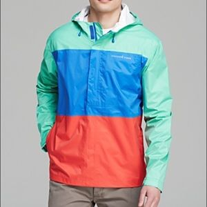 Men's Vineyard Vines Color Block Beacon Raincoat M